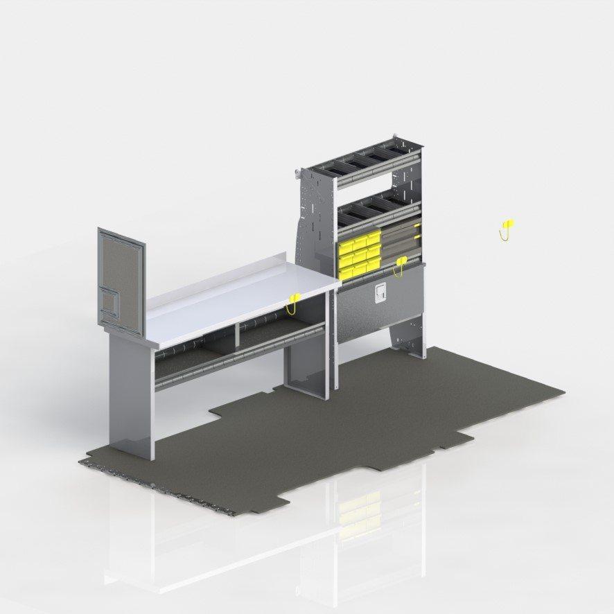 Transit Fiber Optic Technician Pro Shelving Package – 148″ WB