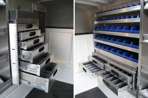 Transferable Service Bodies - Drawer & Bin System