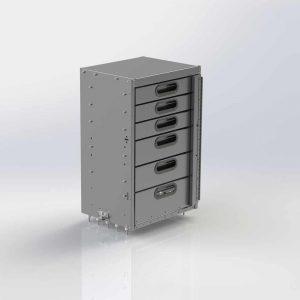 Aluminum 5 Drawer Cabinet