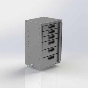 Aluminum 6 Drawer Cabinet