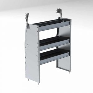 "36""w aluminum shelving unit"