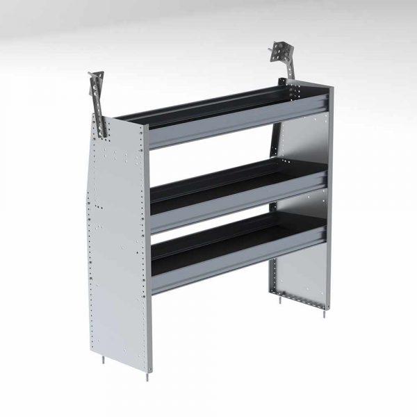 "48""w aluminum shelving unit"