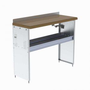 Workbench with Hardwood Top