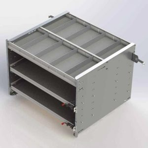 """30"""" Axess Tray with 1 Shelf & 2 Drawers"""