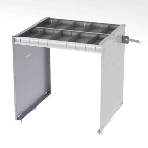 """42"""" Axess Tray with 1 Shelf & No Drawers"""