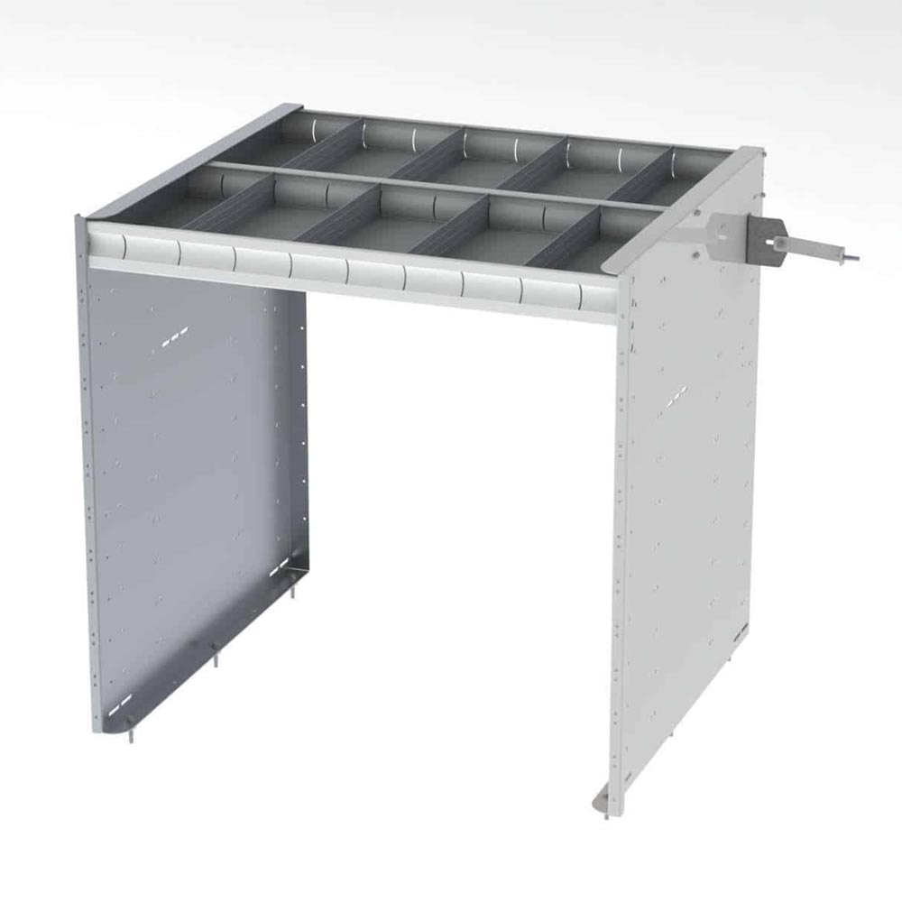 """Axess Tray with 1 Shelf & No Drawers - 42""""h — simple ..."""