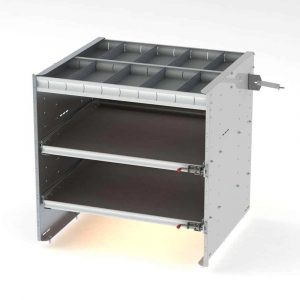 """42"""" Axess Tray with 1 Shelf & 2 Drawers"""