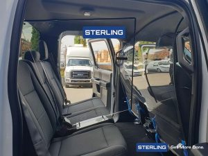 covid vehicle health barriers - personnel protective guards - Sterling Fleet Outfitters