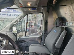 covid vehicle health barriers - Ford Transit - personnel protective guards - Sterling Fleet Outfitters