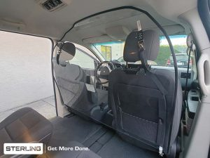 covid vehicle health barriers - Minivans - personnel protective guards - Sterling Fleet Outfitters