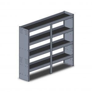 """72""""W Square Back Aluminum"""