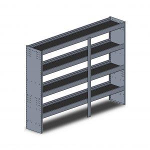 """84""""W Square Back Aluminum"""