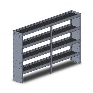 """96""""W Square Back Aluminum"""
