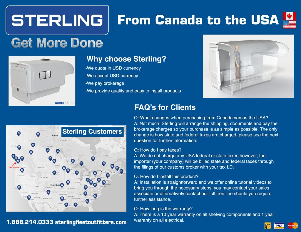 Buying from Sterling - USA Clients