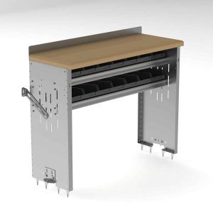 Workbench-Aluminum-w-Hardwood-Top-2-Bin-Shelves-18dx48wx36h-7211